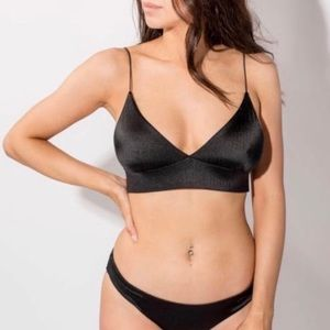 LIRA black two piece bikini size small NWT